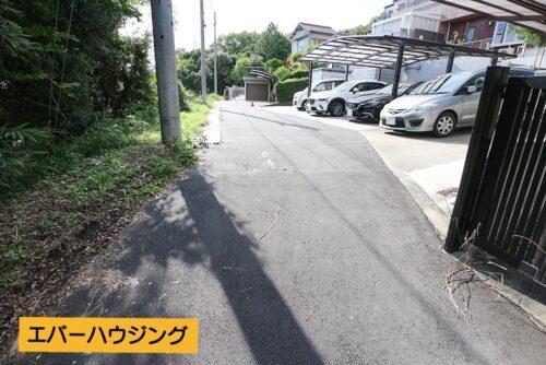 前面道路の写真です。