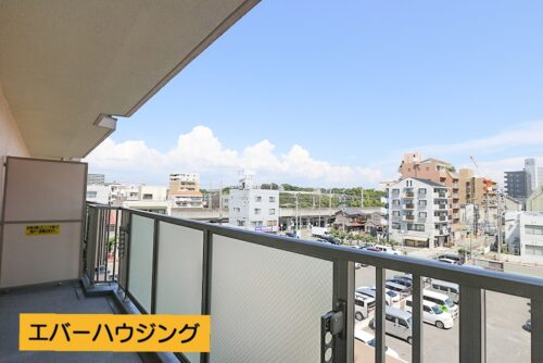 4階バルコニーからの眺望です。