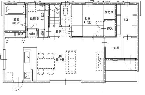 間取り図1階です。