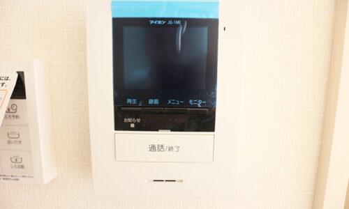 同形状・同仕様写真です。 モニター付インターホン。