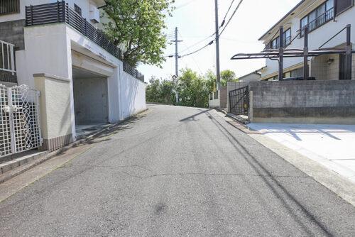 前面道路です。現地(2021年4月20日)撮影