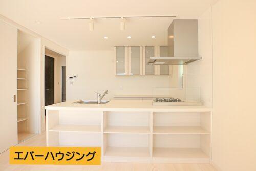 カウンターキッチンには収納棚もございます。