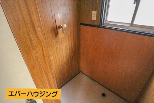洗面所スペースです。洗濯機置き場もこちらにございます。