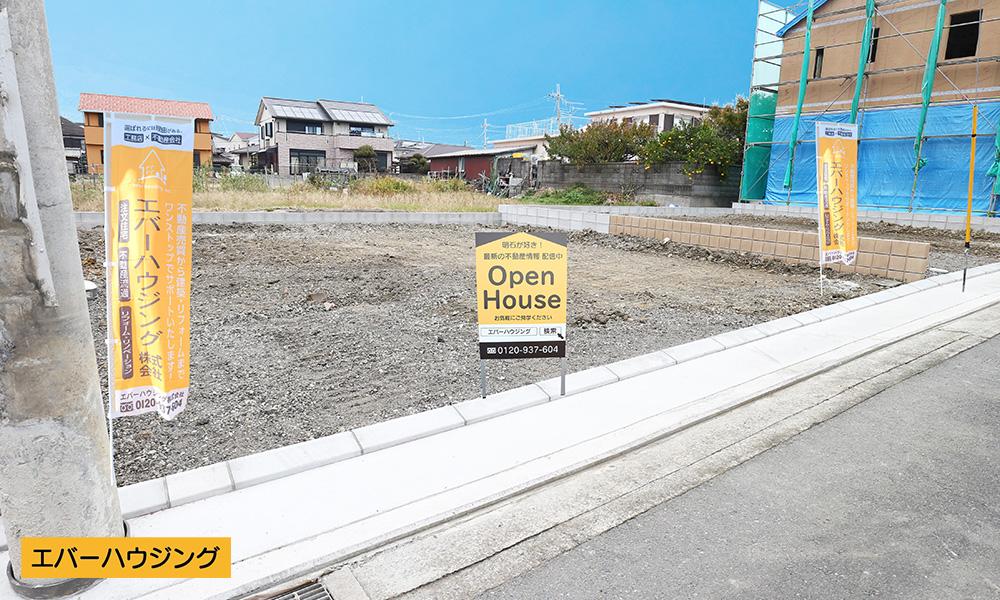 1号棟(95.94㎡)の現地写真です。 現在更地。完成予定2020年2月下旬。 現地(2019年11月)撮影