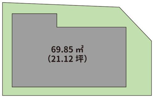 土地面積:69.85㎡