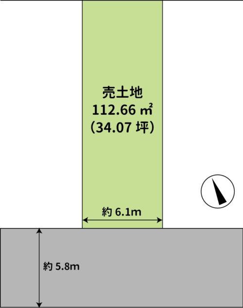土地面積:112.66㎡(34.07坪)