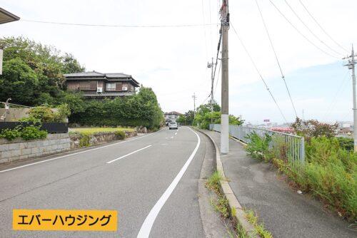 現地の前面道路です。