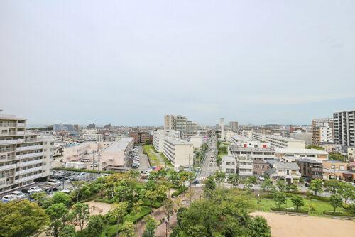 9階バルコニーからの眺望!