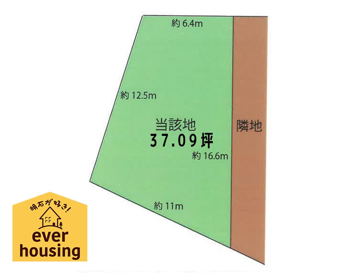 土地面積:122.64㎡(37.09坪)