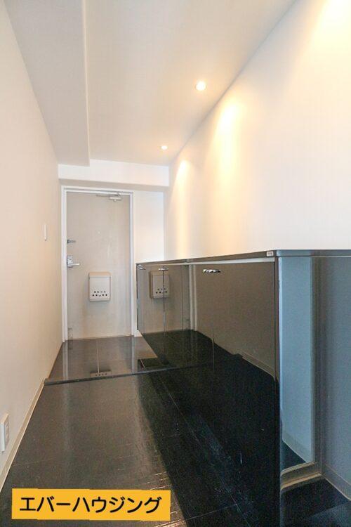 玄関スペースは広々!シューズボックスも大容量です。 ※写真はルームクリーニング前です。