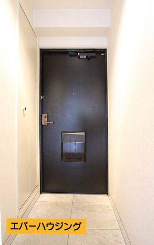 ゆとりのある玄関スペース。