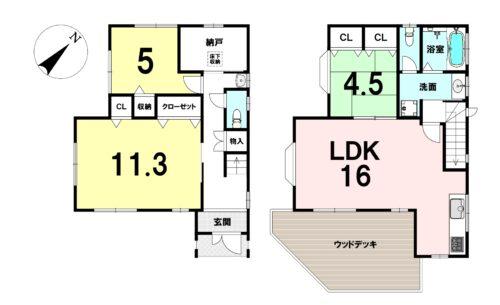 土地面積:105.80㎡(32坪) 建物面積:96.27㎡(29.12坪)