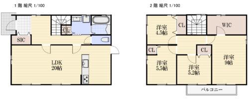 土地面積:194.26㎡ 建物面積:116.96㎡