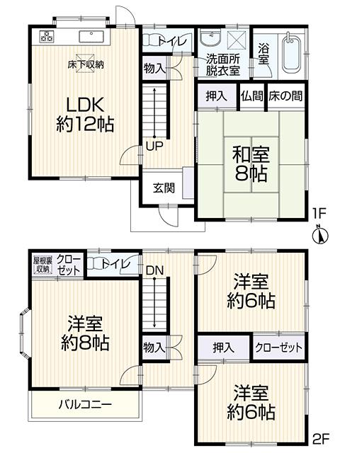 土地面積:119.38㎡ 建物面積:101.84㎡ 全居室6帖以上!4LDKの再生住宅です。