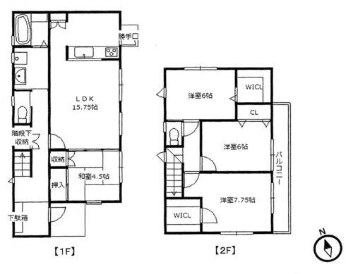 土地面積:119.80㎡ 建物面積:104.33㎡