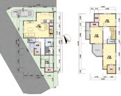 建築参考プランの間取り図です。