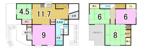 土地面積:109.55㎡ 建物面積:111.78㎡