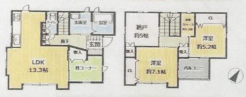 土地面積:100.05㎡(30.26坪) 建物面積:87.58㎡