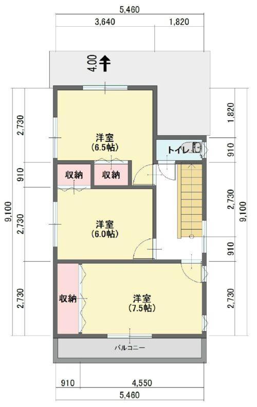 B号地参考プラン例:2階床面積46.37㎡ 参考金額:1721万円(税込)(間取)