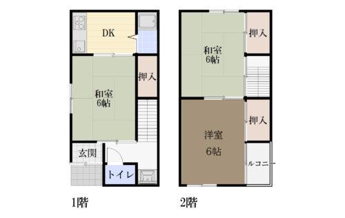 土地面積:42.07㎡(12.72坪) 建物面積:43.76㎡(13.23坪)