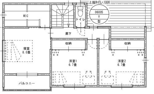 間取り図2階です。
