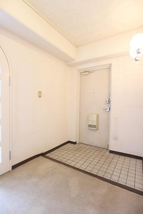 玄関スペースは余裕のある広さ。