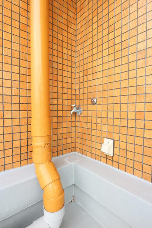 ルーフバルコニーの水栓です。