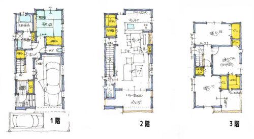 建物プラン例②間取り図