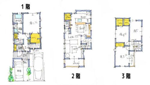 建物プラン例①間取り図