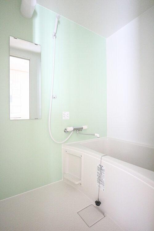 浴室も新調済み。(2021年4月27日)撮影