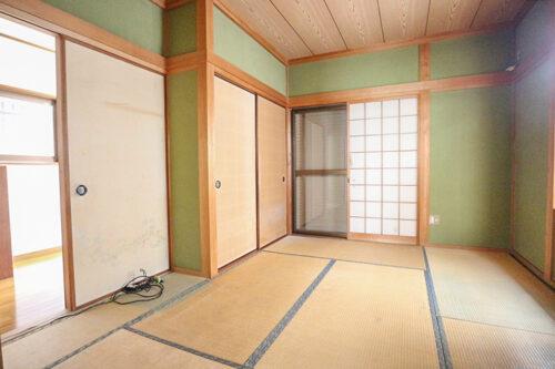 1階の和室6帖のお部屋です。現地(2021年9月)撮影