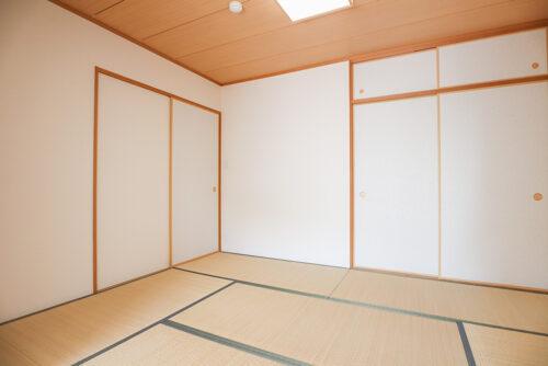 和室6畳のお部屋です。畳表替え済みです。