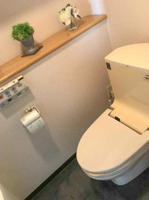 洗浄機能付きトイレです(2021年5月)撮影