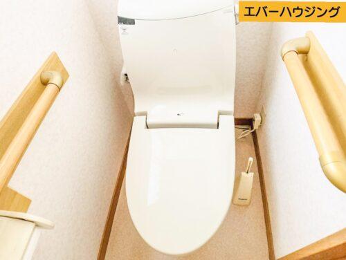 洗浄機能付きのトイレ。