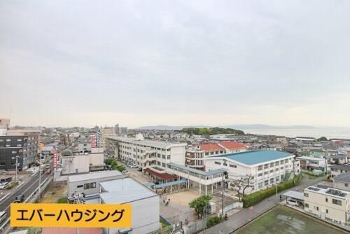 バルコニーからの眺望です(2021年4月30日)撮影